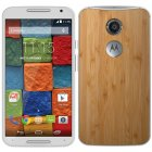 Moto X XT1096 16GB 2nd Gen 4G LTE WHITE Android Smart Phone Verizon Bamboo Back Cover