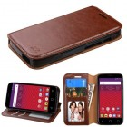 Alcatel Ideal / Streak / Dawn / Acquire Brown Wallet with Tray