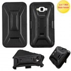 Samsung Galaxy J7 Black/Black Advanced Armor Stand Case with Black Holster