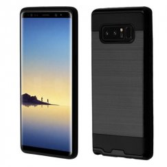 Samsung Galaxy Note 8 Black/Black Brushed Hybrid Case