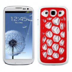 Samsung Galaxy S3 Red/White Synapse Cover