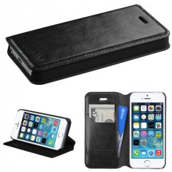 Apple iPhone 5/5s Black Wallet with Tray