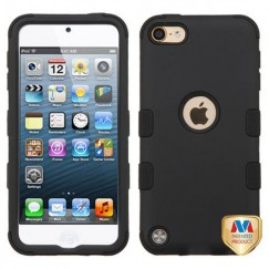 Apple iPod Touch (6th Generation) Rubberized Black/Black Hybrid Case