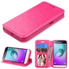 Samsung Galaxy J1 Hot Pink Wallet with Tray