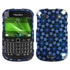Blackberry 9900 Bold Twinkle Stars/Blue (2D Silver) Sparkle Phone Protector Cover