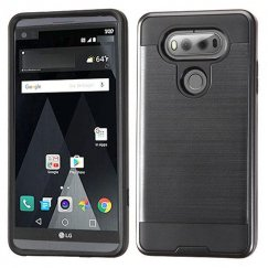 LG V20 Black/Black Brushed Hybrid Case
