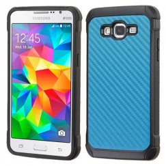 Samsung Galaxy Grand Prime Blue Carbon-Fiber Backing/Black Astronoot Case