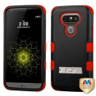 LG G5 Natural Black/Red Hybrid Phone Protector Cover (with Stand)