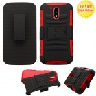 Motorola Moto G4 / Moto G4 Plus Black/Red Advanced Armor Stand Case with Black Holster