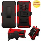 ZTE Grand X Max 2 Black/Red Advanced Armor Stand Protector Cover (With Black Holster)