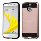 HTC Bolt Rose Gold/Black Brushed Hybrid Case