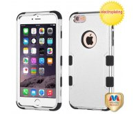 Apple iPhone 6 Plus Silver Plating/Black TUFF Hybrid Phone Protector Cover