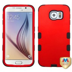 Samsung Galaxy S6 Titanium Red/Black Hybrid Case