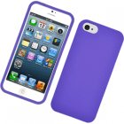 Apple iPhone 5 Rubberized Snap On Cover, Purple