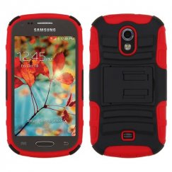 Samsung Galaxy Light Black/Red Advanced Armor Stand Case