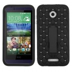 HTC Desire 510 Black/Black Symbiosis Stand Case with Diamonds
