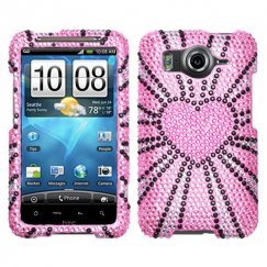 HTC Inspire 4G Fervor Heart Diamante Case