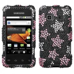 Samsung Galaxy Prevail Falling Stars Diamante Case