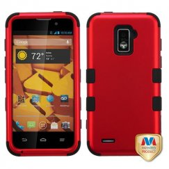 ZTE Warp 4G Titanium Red/Black Hybrid Case