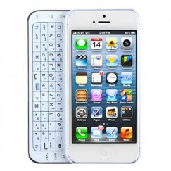Apple iPhone 5/5s White Backlight Side-style Bluetooth Wireless Keyboard