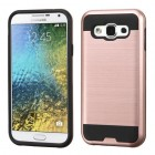 Samsung Galaxy E5 Rose Gold/Black Brushed Hybrid Case