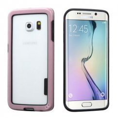 Samsung Galaxy S6 Edge Black/Solid Pink Case