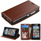 Nokia Lumia 435 Brown Wallet with Tray
