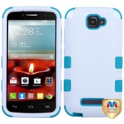 Alcatel One Touch Fierce 2 Ivory White/Tropical Teal Hybrid Case