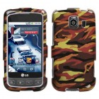 LG Optimus S Camo/Yellow Case
