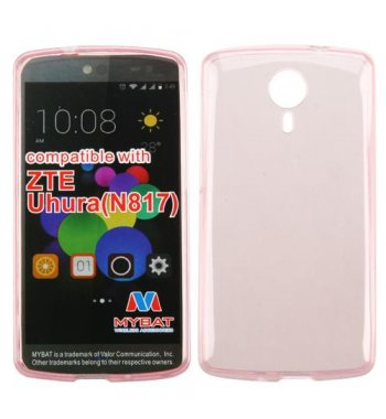 ZTE Uhura N817 Glossy Transparent Rose Gold Candy Skin Cover