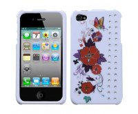Wisteria Butterfly Flowers Phone Protector Cover with Diamonds