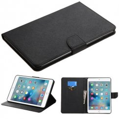 AppleiPad Mini 4th Gen Black Pattern/Black Liner wallet with Card Slot