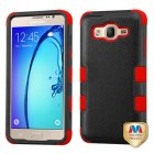 Samsung Galaxy On5 Natural Black/Red Hybrid Phone Protector Cover