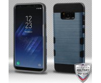 Samsung Galaxy S8 Plus Slate Blue/Black Brushed Hybrid Protector Cover [Military-Grade Certified]