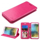 Samsung Galaxy E5 Hot Pink Wallet with Tray
