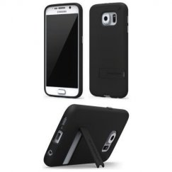 Pure Gear Samsung Galaxy S6 Slim Shell Case With Kickstand- Matte Black