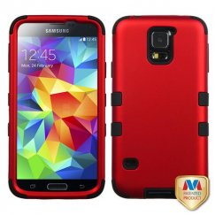 Samsung Galaxy S5 Titanium Red/Black Hybrid Case