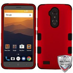 ZTE Blade Max 3 / Max XL Titanium Red/Black Hybrid Case Military Grade