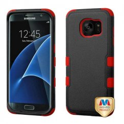 Samsung Galaxy S7 Edge Natural Black/Red Hybrid Case
