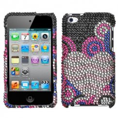 Apple iPod Touch (4th Generation) Bubble Hearts Diamante Case