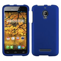 Alcatel One Touch Fierce Titanium Solid Dark Blue Case