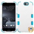 HTC One A9 Natural Ivory White/Tropical Teal Hybrid Phone Protector Cover