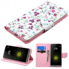 LG G5 Fresh Falling Flowers Wallet