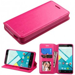 Blu Studio Energy D810 Hot Pink Wallet with Tray
