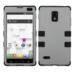 LG Optimus L9 Rubberized Gray/Black Hybrid Case