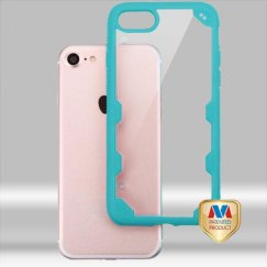 Apple iPhone 7 Transparent Clear/Turquoise FreeStyle Challenger Hybrid Protector Cover