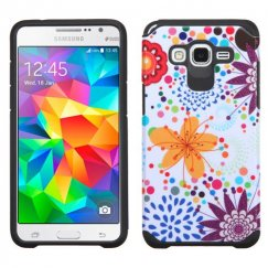 Samsung Galaxy Grand Prime Flower Bud/Bubble/Black Advanced Armor Case