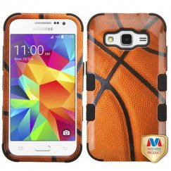 Samsung Galaxy Core Prime Basketball-Sports Collection/Black Hybrid Case