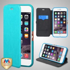 Apple iPhone 6/6s Plus Blue Wallet with Natural Black/Blue Tray