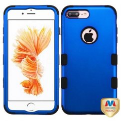 Apple iPhone 8 Plus Titanium Dark Blue/Black Hybrid Case
